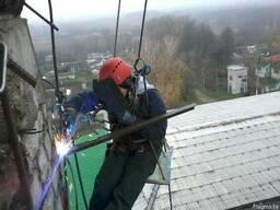 Сварочные работы на высоте методом альпинизма в Минске и по