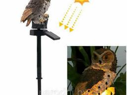 Светильник факел совушка на солнечной батарее