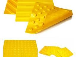 Тактильная резиновая плитка