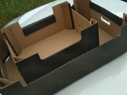 Гофротара (коробка, ящик, лоток) для яблок, овощей
