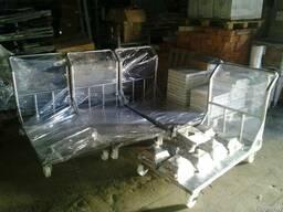Тележка платформенная из нержавеющей стали (грузовая) - фото 1