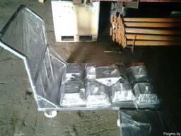 Тележка платформенная из нержавеющей стали (грузовая) - фото 3