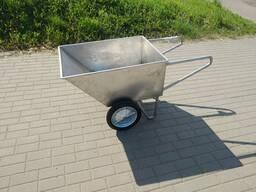 Тележка рикша ковшовая 150л из нержавеющей стали AISI 304, китаянка