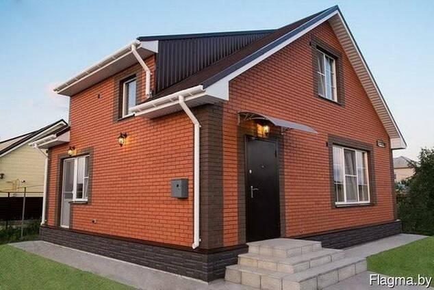 Термопанели Одежда дома тёплый и красивый фасад-цоколь.