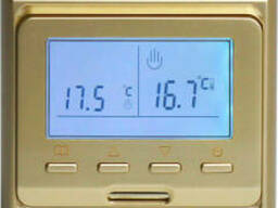 Терморегулятор для теплого пола E 51. 716 цвет золото