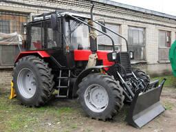 Комплект защитного ограждения для лесного трактора