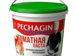 """Томатная паста """"Pechagin"""" ПВХ ведро ПВХ 1 кг. Не содержит Г"""
