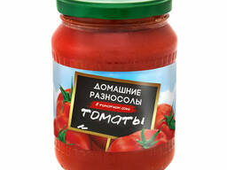 """Томаты в томатном соке """"Домашние Разносолы"""" 720 мл"""