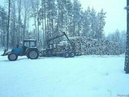 Транспортировка леса лесовозом с гидроманипулятором