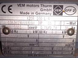 Трехфазный электродвигатель 4 Квт VEM motors Германия