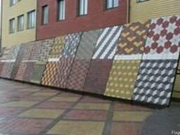 Тротуарная плитка, бордюры, блоки, накрывочники. (На основе гранитного щебня).