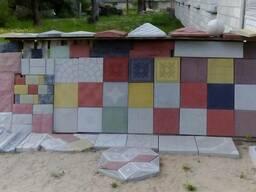 Тротуарная плитка. Изделия из бетона