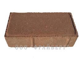 Тротуарная плитка Кирпичик 60 мм оранжевый