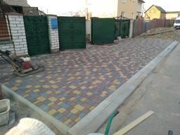 Тротуарная плитка, бордюры, укладка , доставка.