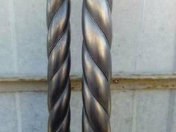 Труба декоративная витая металлическая 89*2,0 длина 3 метра