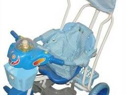Трёхколёсный велосипед с ручкой Amatti A101-2, синий