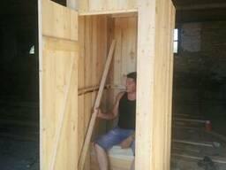 Деревянный туалет на дачу