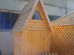 Туалет на дачу деревянный (дешево) - фото 4