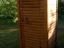 """Туалет деревянный для дачи """"Пенёк"""""""