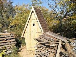 Туалет деревянный для дачи Теремок