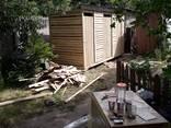 Туалет деревянный, душ, хозблок - фото 6