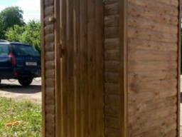 """Туалет деревянный из блокхауса """"Пенал"""""""
