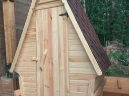 Туалет для дачи деревянный-домик