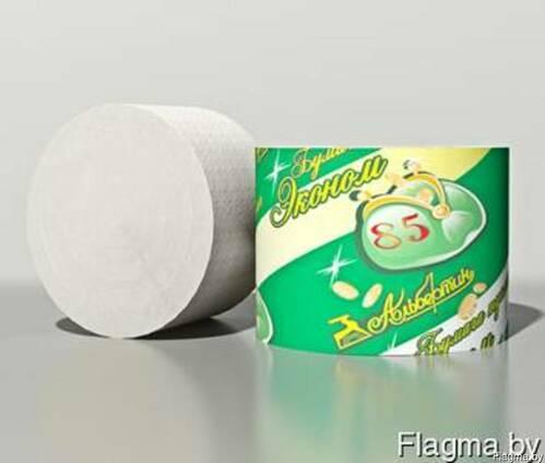 Туалетная бумага без гильзы 70 м, светлая