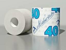 Туалетная бумага с гильзой 40 м, светлая