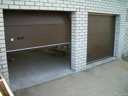 Тёплые гаражные секционные ворота. Комплект с монтажем.