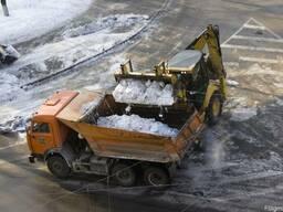Уборка и вывоз снега, сколотого льда