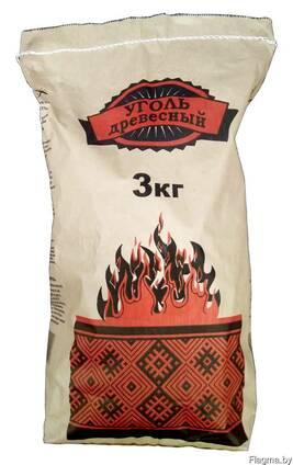 Уголь древесный. Пакет 3 кг. Производитель.