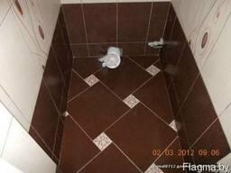 Укладка керамической плитки на полы стены в Жодино