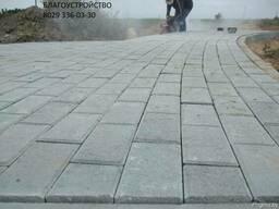 Укладка тротуарной плитки, благоустройство территории