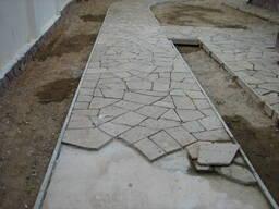 Укладка тротуарной плитки, камня и бордюров