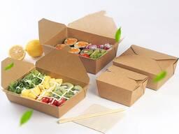 Упаковка бумажная, контейнер BioBox Fold Box 600мл. , 950мл.