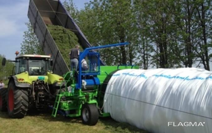 Услуга по упаковке в полимерные рукава силоса, сенажа, свекловичного жома и других кормов.