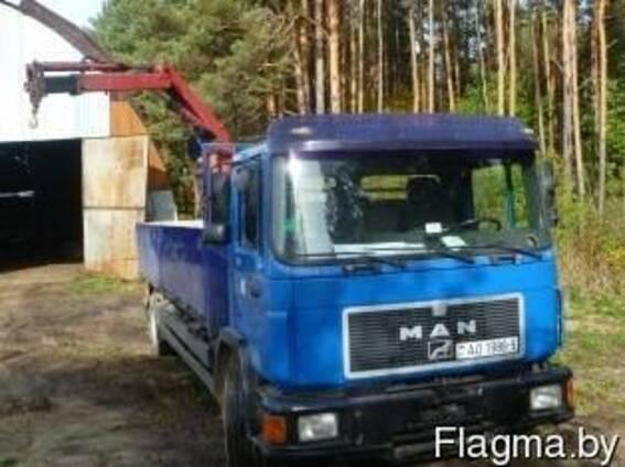 Услуги по грузоперевозке MAN с манипулятором—10 тонн