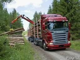 Услуги лесовоза-сортиментовоз с манипулятором