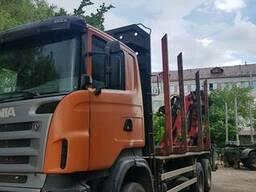 Услуги лесовоза-сортиментовоза Scania с гидроманипулятором