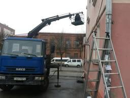 Услуги манипулятора, автовышки, вылет стрелы 5 метров грузоп