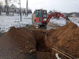 Услуги мини-экскаватора в Дзержинском районе РБ