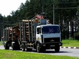 Услуги сортиментовоза (лесовоз)