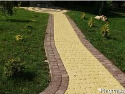 Установка бордюров Укладка тротуарной плитки