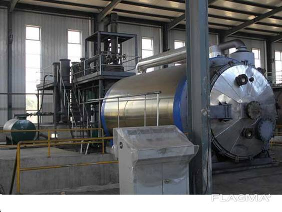 Установка пиролизная для утилизации шин, полимерных отходов, нефтешламов и др.
