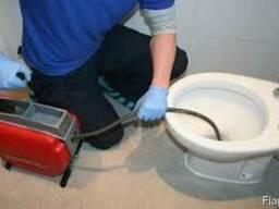 Устранение засоров, Прочистка труб канализации