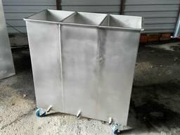 Ванна 3-х секционная технологическая из нержавеющей стали