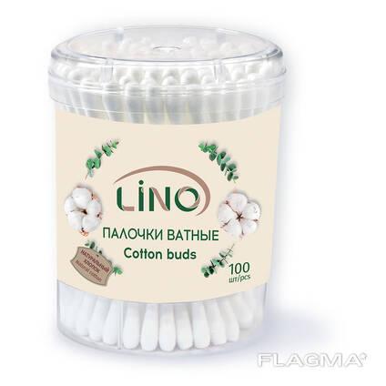 "Ватные палочки ""LINO"", 100 шт. , 200 шт."