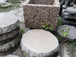 Ваза из мытого бетона (40*40*30)