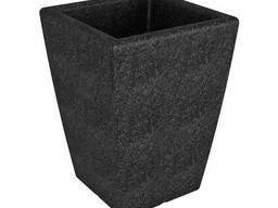 """Вазон садовый напольный для цветов """"Flox"""" P 680 черный грани"""
